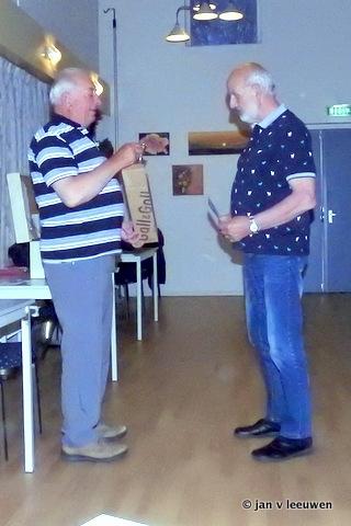 Competitie winnaar Jaap Tuk
